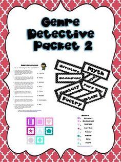 Genre detective activity pack 2 $ on TpT
