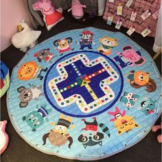 Baby Gyms & Playmats Romantic Newborn Kids Floor Mats Baby Crawling Blanket Cotton Chilren Padded Mat Round Carpet Play Rug Kids Room Decoration