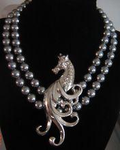 Vintage Huge Lang Sterling Horse Seahorse Brooch Pin
