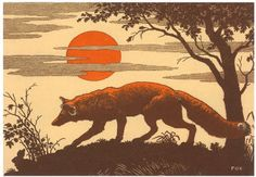 Woodcut of Fox poster