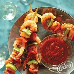 Caribbean Pineapple #Shrimp #Skewers from Crisco®