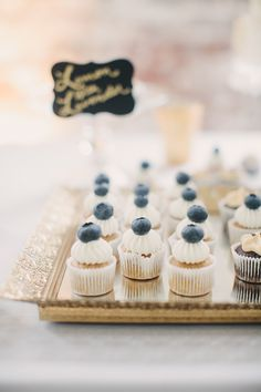 mini blueberry cupcakes! photo by Julia of Our Labor of Love