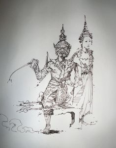 Thai Art Drawing | Traditional Art / Drawings / Other ©2012-2013 ~ PinGponG83