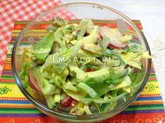 Овощной салат с соусом тартар - http://emsalat.ru/salad_veget/ovoshhnoy-salat-s-sousom-tartar.html