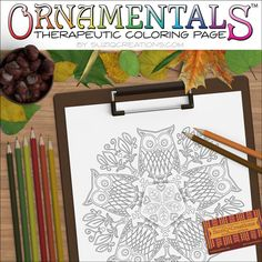 Parliament Of Owls Coloring Page OrnaMENTALs By CreationsBySuziQ