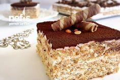 Bisküvili Yalancı Tiramisu Tiramisu, Food Words, Tart, Deserts, Good Food, Food And Drink, Sweet, Ethnic Recipes, Recipes