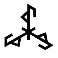 Bindrune Marriage and Family - Fashion Makeup Norse Runes, Viking Symbols, Viking Art, Viking Runes, Marriage Symbol Tattoos, Marriage Symbols, Viking Tattoo Symbol, Norse Tattoo, Spell Circle