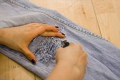 how to make your jeans look destroyed