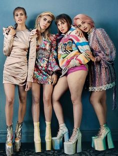 HBO's GIRLS' Allison Williams, Zosia Mamet, Lena Dunham & Jemima Kirke, by Emma Summerton for Glamour 2017
