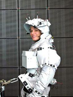 Sandra Bullock sur le tournage de Gravity.