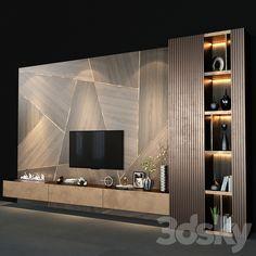 Tv Cabinet Wall Design, Tv Wall Design, Living Room Partition Design, Tv Wall Cabinets, Modern Tv Room, Modern Tv Wall Units, Modern Living, Minimalist Living, Art Of Living