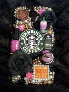 Starbucks Coffee MakeUp Diva Logo Homemade Case Handmade for Samsung Galaxy S4 4