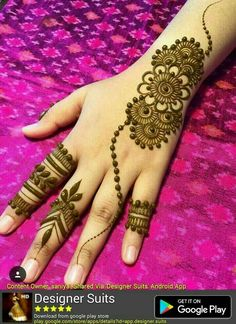 What is a Henna Tattoo? Henna tattoos are becoming very popular, but what precisely are they? Henna Hand Designs, Dulhan Mehndi Designs, Arte Mehndi, Mehndi Designs Finger, Simple Arabic Mehndi Designs, Mehndi Designs For Girls, Mehndi Designs For Beginners, Modern Mehndi Designs, Mehndi Design Photos