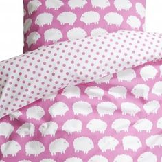 Farg & Form Pink Sheep Single Bedding set - Full range online | Nubie - Modern Baby Boutique