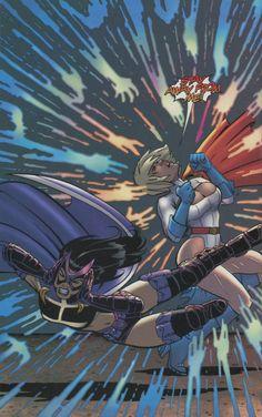 Power Girl, Huntress from JSA Classified #3 art by Amanda Conner / Jimmy Palmiotti © DC 2005