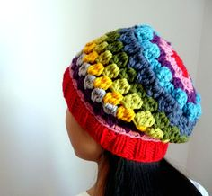 Slouch beanie granny square style - inspiration
