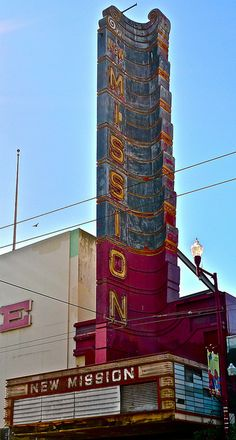 Mission Theater, Mission St, Mission District, San Francisco, California by… San Francisco Girls, Living In San Francisco, San Francisco City, San Francisco California, California Travel, Northern California, Ireland Travel, Galway Ireland, Cork Ireland