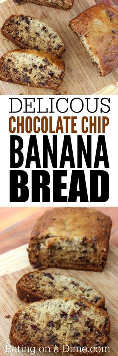 Chocolate chip banana bread Recipe. We took our super moist banana ...