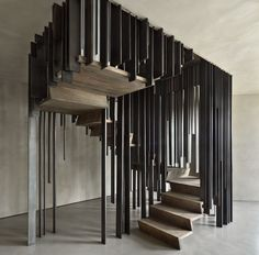 Staircase by storage associati ... stairs almost as sculpture