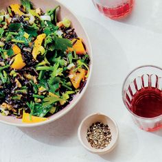 Carissa Mondavi, of the Mondavi wine family, keeps it simple with this Wild Rice and Golden Beet Salad, tossing the vegetables with roasted leeks, Wild Rice Recipes, Wine Recipes, Cooking Recipes, Vegan Recipes, Wild Rice Salad, Wild Rice Soup, Easy Roast Chicken, Beet Salad Recipes, Vegane Rezepte