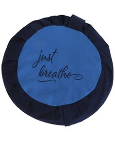 Just Breathe Zafu Meditation Cushion Blue and Navy Cover Only no fill  * Learn more by visiting the image link. (This is an affiliate link)