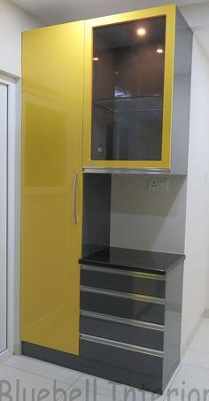 Kitchen Cupboard Designs, New Kitchen Designs, Kitchen Room Design, Pantry Design, Modern Kitchen Design, Flat Interior Design, Interior Design Kitchen, Smart Home Design, Kitchen Modular