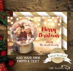 Christmas Photo Cards, Christmas Photos, Christmas Fun, Holiday Cards, Unique Snow Globes, Photo Birthday Invitations, Online Printing Services, Forest Friends, Birthday Photos