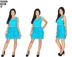 #turquoishdress#layeredfrilldress#promdress#www.fashionbelow10.com