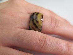 Agate gemstone ring Faceted  ring Wide band gemstone от Viyoli