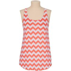 Dubarry chevron stripe racerback tank ($24) ❤ liked on Polyvore