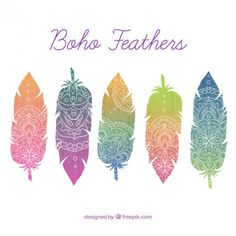 plumes motif transfert thermique impression offset chaleur patch enfants de vê Feather Pattern, Feather Design, Impression Offset, Feather Vector, Coloured Feathers, How To Iron Clothes, Estilo Boho, Vector Photo, Diy Signs