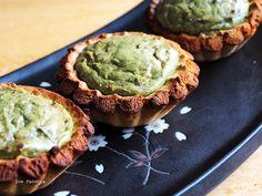 green tea cheese tart