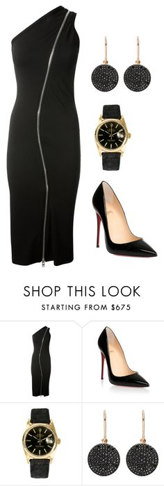 """""""Serious night (ms)"""" by ale-pink5 ❤ liked on Polyvore featuring Givenchy, Christian Louboutin, Rolex and Astley Clarke"""
