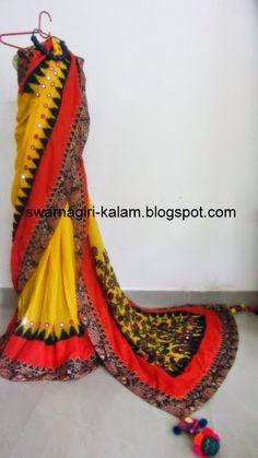 Hand made kalamkari Saree