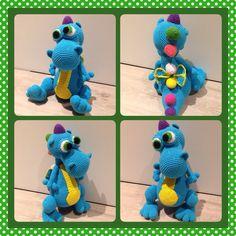 Heklet drage/ crochet Dragon