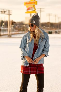 Free People beanie and TopShop jacket on The Boyish Girl
