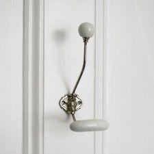 metal and ceramic coat hook
