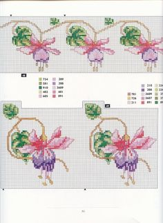 This Pin was discovered by Hul Cross Stitch Boarders, Cross Stitch Flowers, Cross Stitch Charts, Cross Stitch Designs, Cross Stitching, Cross Stitch Embroidery, Embroidery Patterns, Cross Stitch Patterns, Rico Design