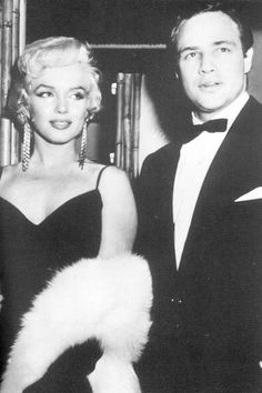 Marilyn with Marlon Brando.