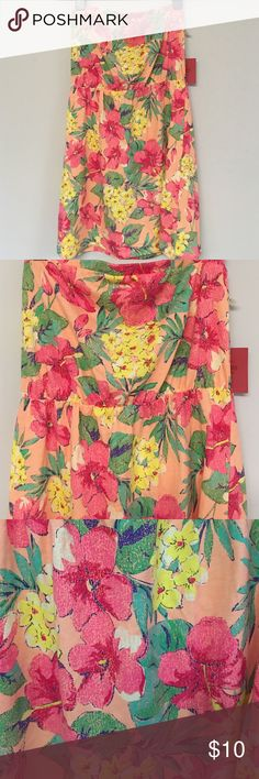Floral strapless dress Floral strapless dress never worn new with tags Mossimo Supply Co Dresses Mini