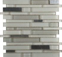 Emser Tile & Natural Stone: Ceramic and Porcelain Tiles, Mosaics, Glass Tiles, Natural Stone: Flash, Bright Linear Mosaic