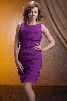 Dresswe.com SUPPLIES Elegant Ruffles A-Line Scoop Short/Mini-Length Bridesmaid Dress 2013 Bridesmaid Dresses