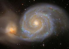The whirlpool galaxy, also called Messier 51, was captured by the Sloan Digital Sky Survey, which has already mapped more than 100 million galaxies in 3 dimensions. (Photo: the Sloan Digital Sky Survey & Robert Lupton.)