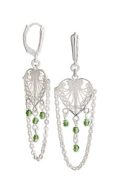 Jewelry Design - Earrings with Swarovski Crystal and Sterling Silver Drops - Fire Mountain Gems and Beads