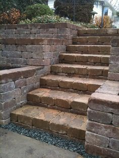Great steps with tiered retaining walls for gardening.  Very easy to maintain at waist heights...Oh and walls act as railings...
