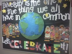 diversity classroom displays - Love this idea for the classroom. It just reminds every student that walks in that they are welcome here no matter how different they are. We should always celebrate our differences. #warmth #inviting #inclusive