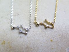 constellation necklace,Zodiac Constellation Necklace,Zodiac-sign,Gemini / the Twins (May 21 - June 20)  with giftbox by thinlight on Etsy