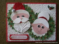 Sharyn's Stamp Biz: Site has lots of cute cards and instructions Paper Punch Art, Punch Art Cards, Christmas Paper, Handmade Christmas, Do It Yourself Food, Winter Karten, Winter Cards, Xmas Cards, Cute Cards