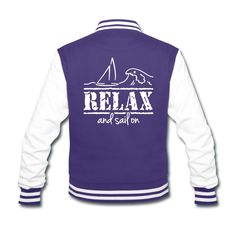"Damenjacke ""RELAX and sail on""  #Jacke #Segelboot #sailing #segeln #Segler"