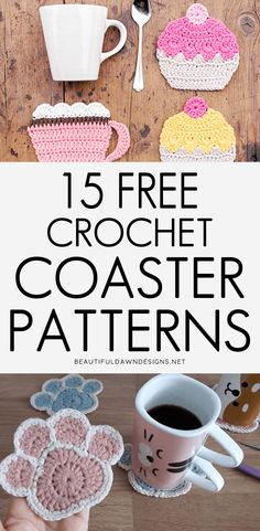 If you're looking for a quick crochet project, crochet coasters are the way to go. They come together quickly and are usually very beginner-friendly. Cotton Crochet Patterns, Crochet Bedspread Pattern, Crochet Bookmark Pattern, Crochet Socks Pattern, Crochet Bookmarks, Crochet Designs, Crochet Coaster Pattern Free, Knitting Patterns, Beginner Crochet Projects